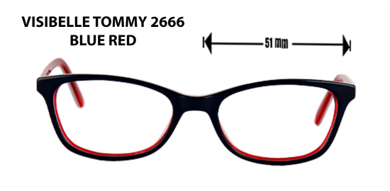 visible tommy 2666 blue red