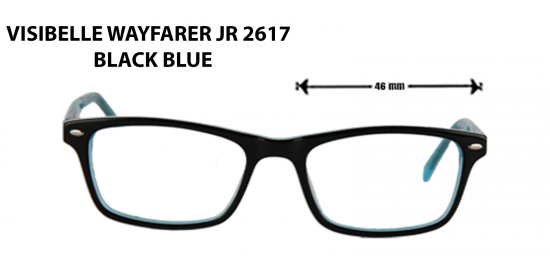 visible wayfarer jr 2617 black blue