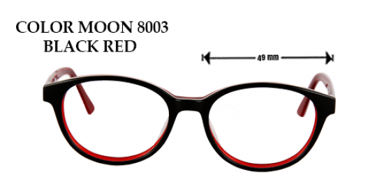 COLOR MOON 8003 BLACK RED