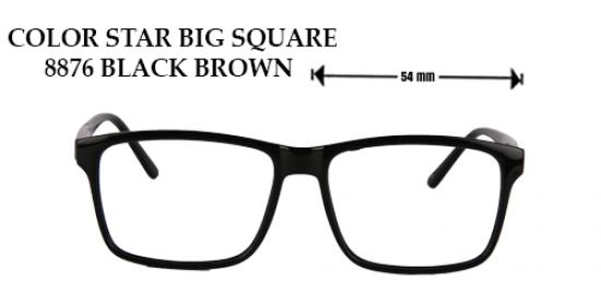 COLOR STAR BIG SQUARE 8876 BLACK BROWN