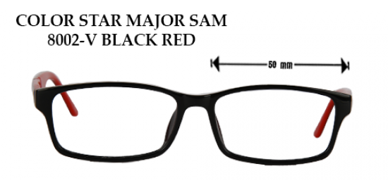 COLOR STAR MAJOR SAM 8002-V BLACK RED