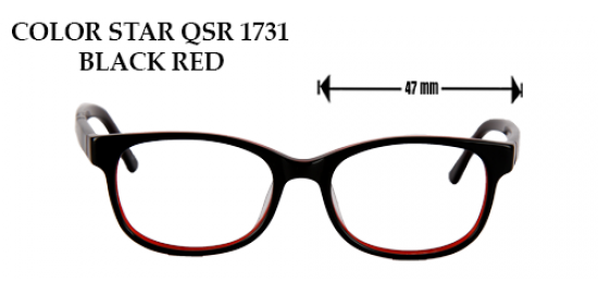 COLOR STAR QSR 1731 BLACK RED