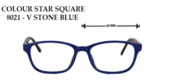 COLOR STAR SQUARE 8021-V STONE BLUE