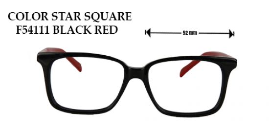 COLOR STAR SQUARE F54111 BLACK RED