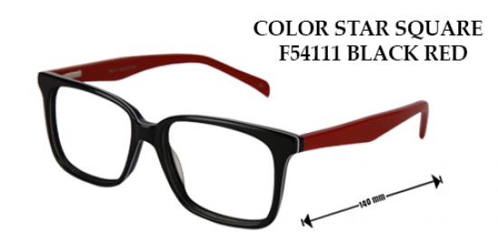 COLOR STAR SQUARE F54111 BLACK RED