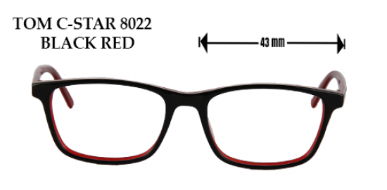 TOM C- STAR 8022 BLACK RED