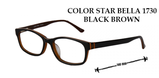 COLOR STAR BELLA 1730 BLACK BROWN