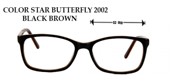 COLOR STAR BUTTERFLY 2002 BLACK BROWN