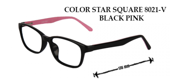 COLOR STAR SQUARE 8021-V BLACK PINK