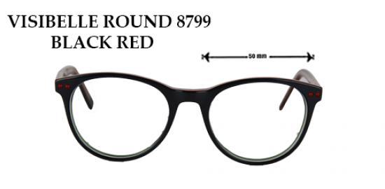 VISIBELLE ROUND 8799 BLACK RED